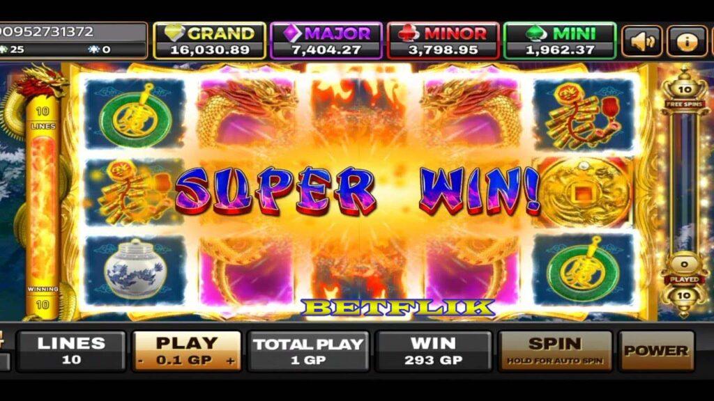 รางวัล Super Win จาเกมสล็อตโหมดฟรีสปินที่เว็บ Betflik
